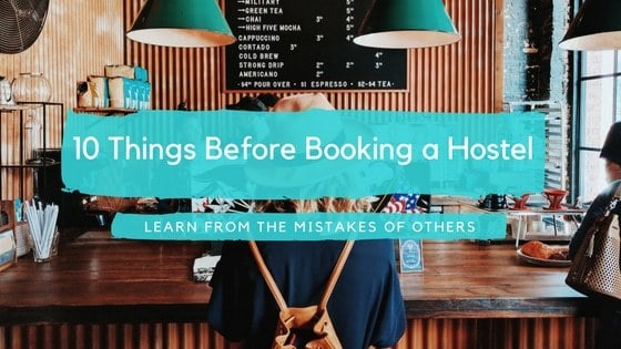 10 things before booking a hostel banner