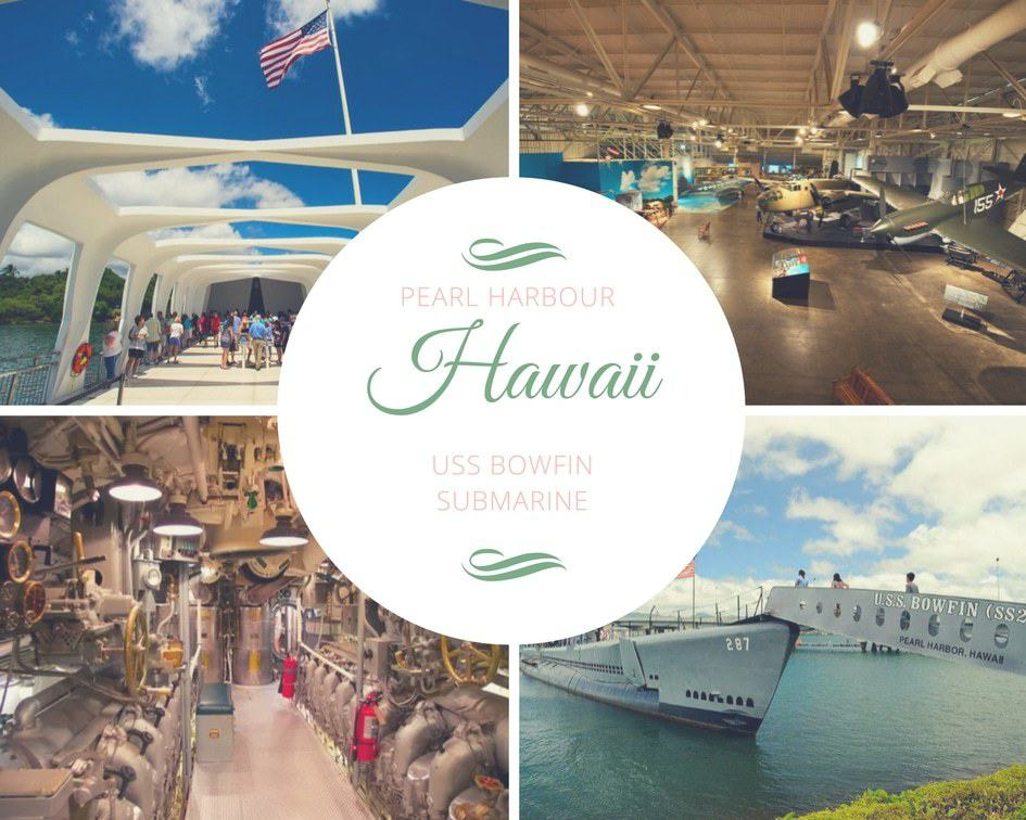 Pearl Harbour & Pearl Harbor site and USS Bowfin Submarine