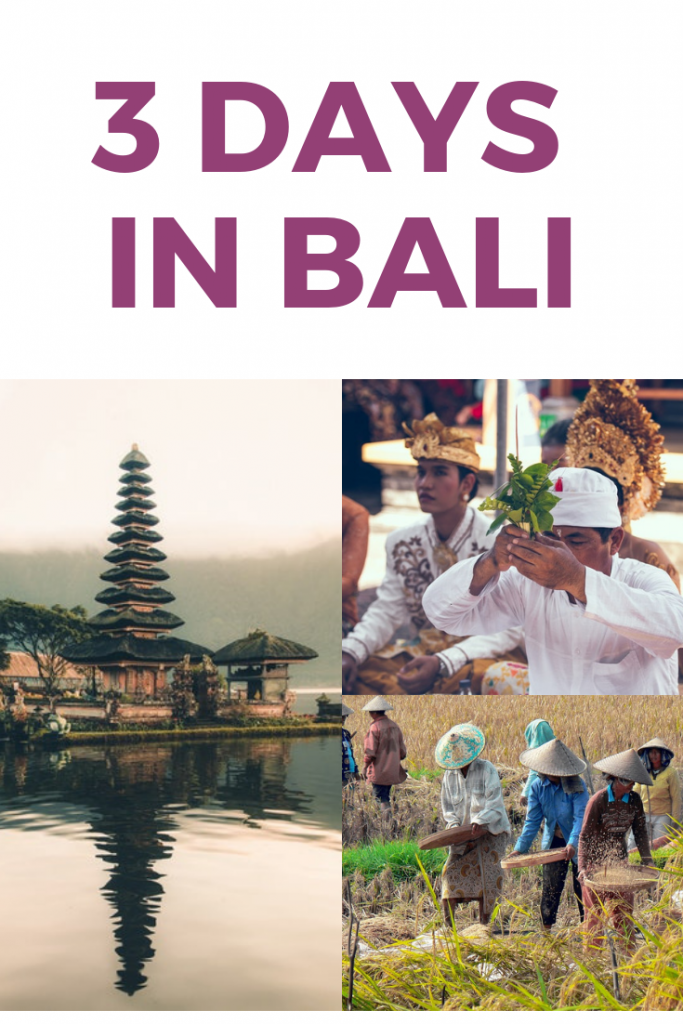 3 days in bali