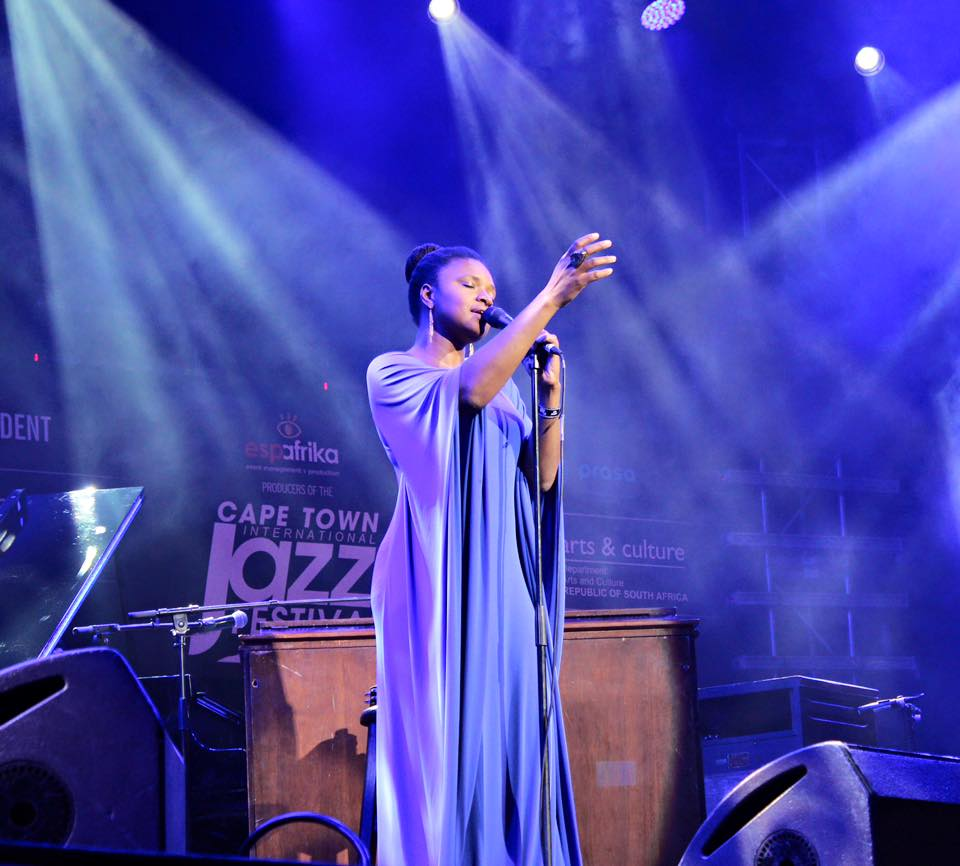 Lizz Wright performing at capetown international jazz festival