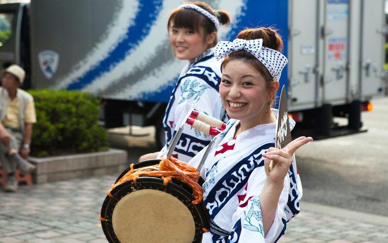 Obon festival celebrations
