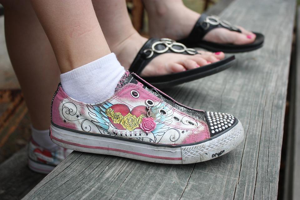 shoe and flip flops